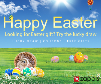 Happy Easter Win Free Prize at Zapals