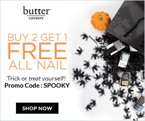Get in Time for Halloween! Buy 2 Nail Products Get 1 Free at butter LONDON! Free shipping on Orders $40+
