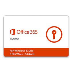 MS Office 365 Home 1-yr Subscription Gift Card