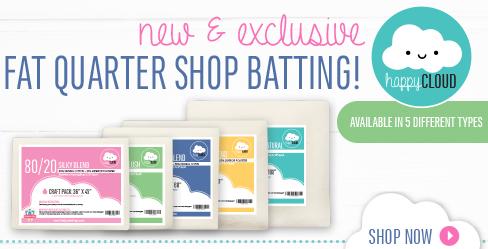 Happy Cloud Quilt Batting by Fat Quarter Shop
