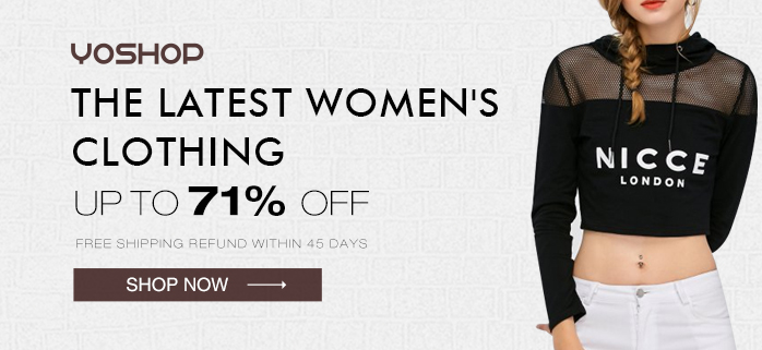 Update your wardrobe with yoshop's latest women's clothing! Enjoy free shipping and up to 71% OFF! Shop now!