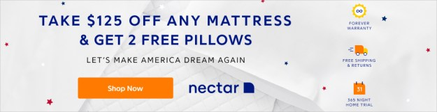 Nectar Sleep Mattress Coupon $125. off