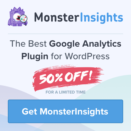 monsterinsights banner A blog for the love of Pinterest