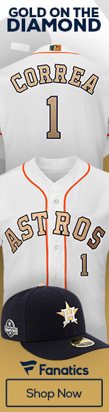 2018 Houston Astros Gold Collection Gear