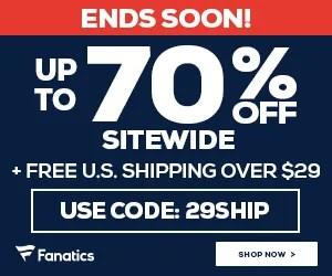 Big Savings for Big Fans at Fanatics.com