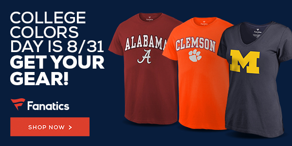 College Colors Day is 8/31 - Grab Your Gear at Fanatics