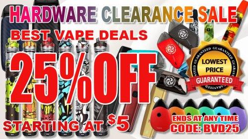 VAPE HARDWARE CLEANANCE SALE 25% OFF