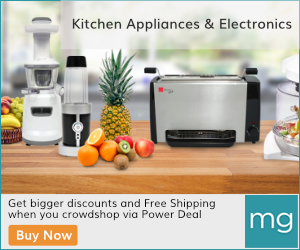 Kitchen Appliances & Electronics at MassGenie.com. Get bigger discounts and Free Shipping when you crowdshop via Power Deal