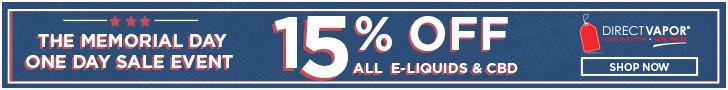15% OFF E-Liquids & CBD