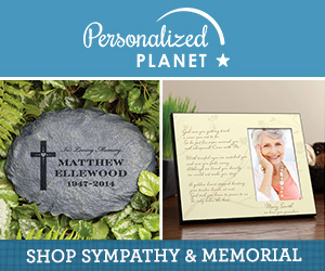Shop sympathy gifts at PersonalizedPlanet.com