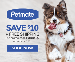 $10 OFF + FREE SHIPPING On Orders $60+ with code FURRYQ2 at Petmate.com 4/1-6/30/20.