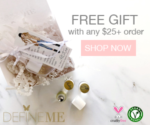 Free Gift with any $25 and over purchase. Its cruelty free