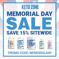ketozone.com Save 15% OFF Site Wide on Memorial Day