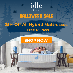 Halloween Sale: 50% Off Any Foam Mattress + 2 Free Pillows
