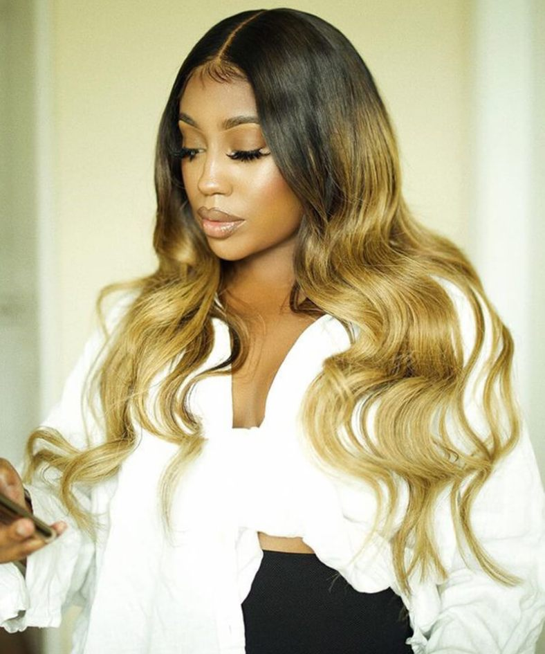 human hair wigs ombre color