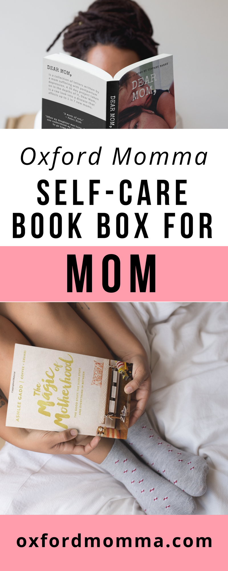 Oxford Momma delivers a self-care book box for moms like you! Get it at oxfordmomma.com
