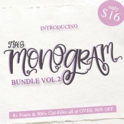 The Monogram Bundle Vol. 2, only at CraftBundles.com