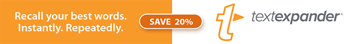 Save 20% off TextExpander