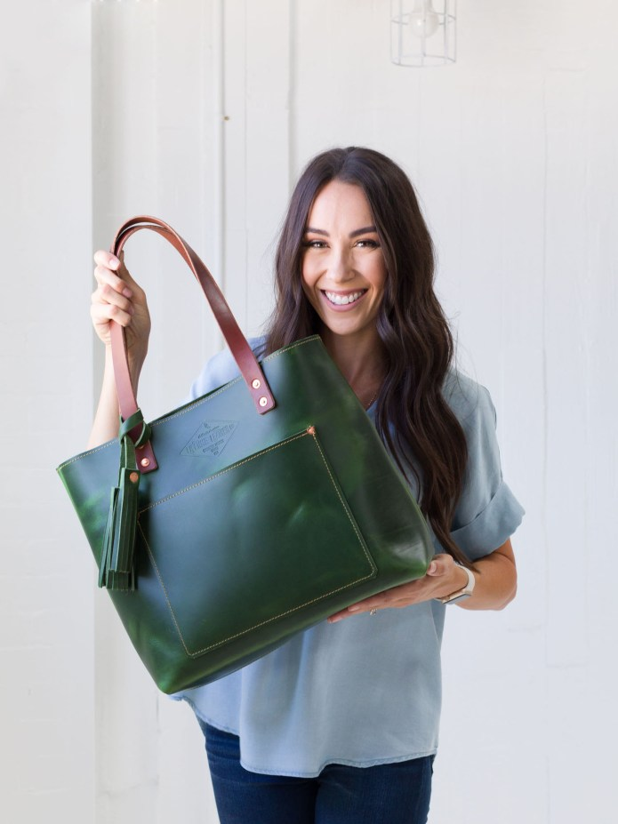Deluxe Tote Emerald Green