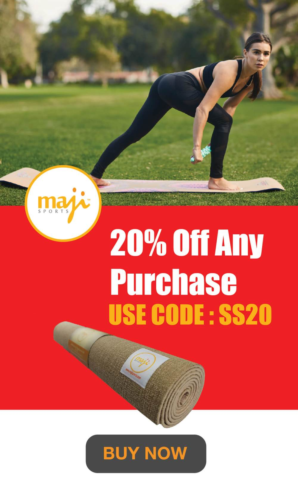 Maji Sports 20% discount