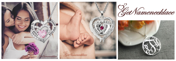 Shop GetNameNecklace.com for Mother's Day