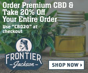 "Save 20% on CBD Products with ""CBD20"""