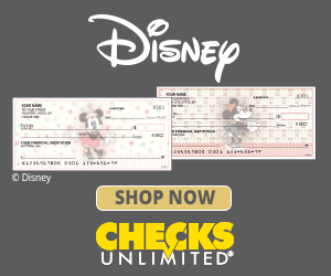 Vintage Mickey Mouse checks at Checks Unlimited