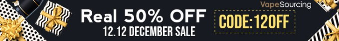 Vapesourcing 12.12 Sale + Sitewide Coupon+ Half-Price Deals
