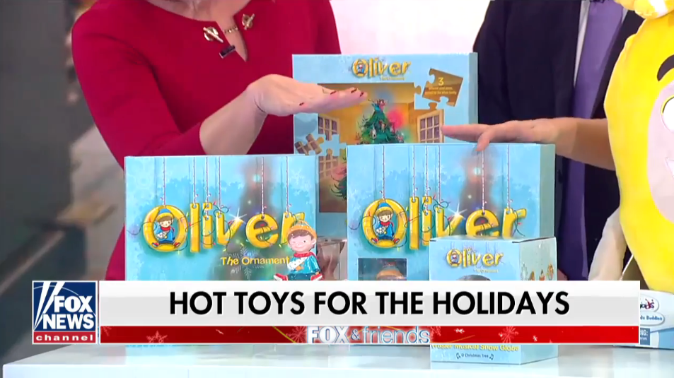 Fox & Friend's Names Oliver the Ornament one of their Hottest Toys of the Year