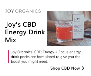 CBD Energy and Focus with Joy Organics' Energy Drinks