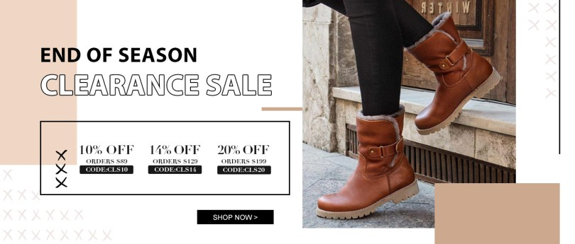 Shoessee  End Of Season Clearance Sale 10% off orders over $89 Code:CLS10