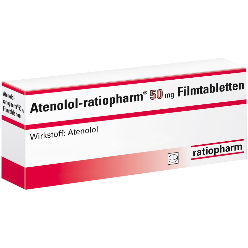 Atenolol ratiopharm 50 Filmtabletten - shop-apotheke.com