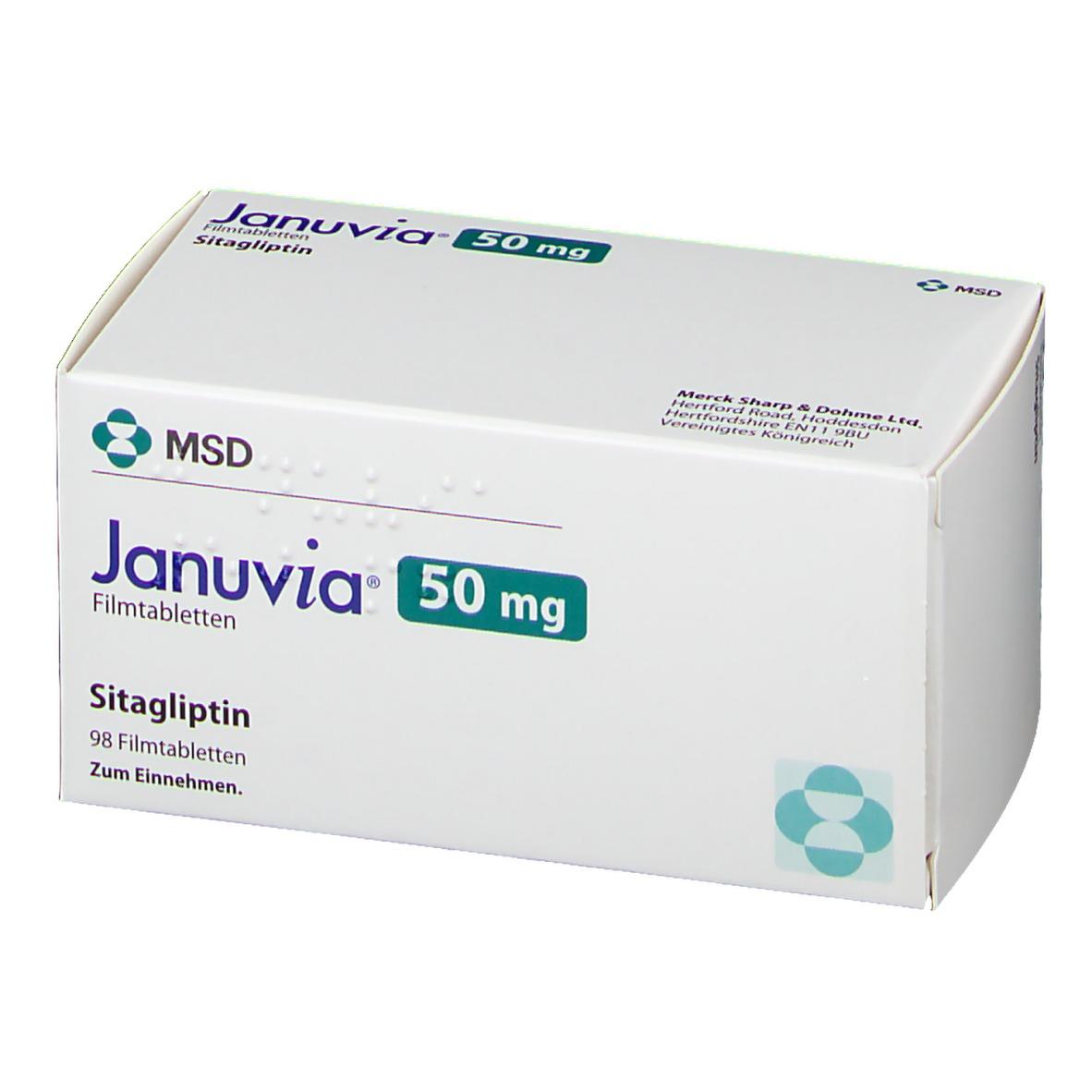 JANUVIA 50 mg 98 St - shop-apotheke.com