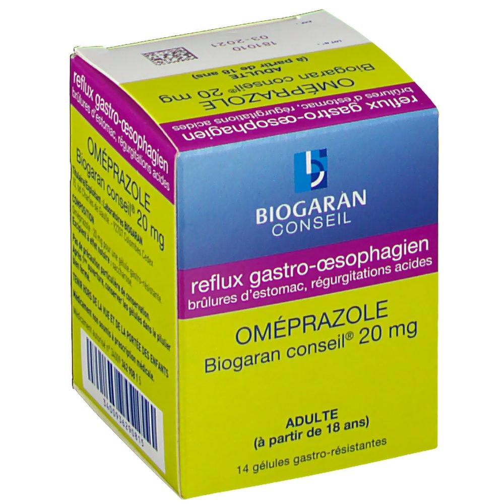 Omeprazole Biogaran Conseil® 20 mg - shop-pharmacie.fr