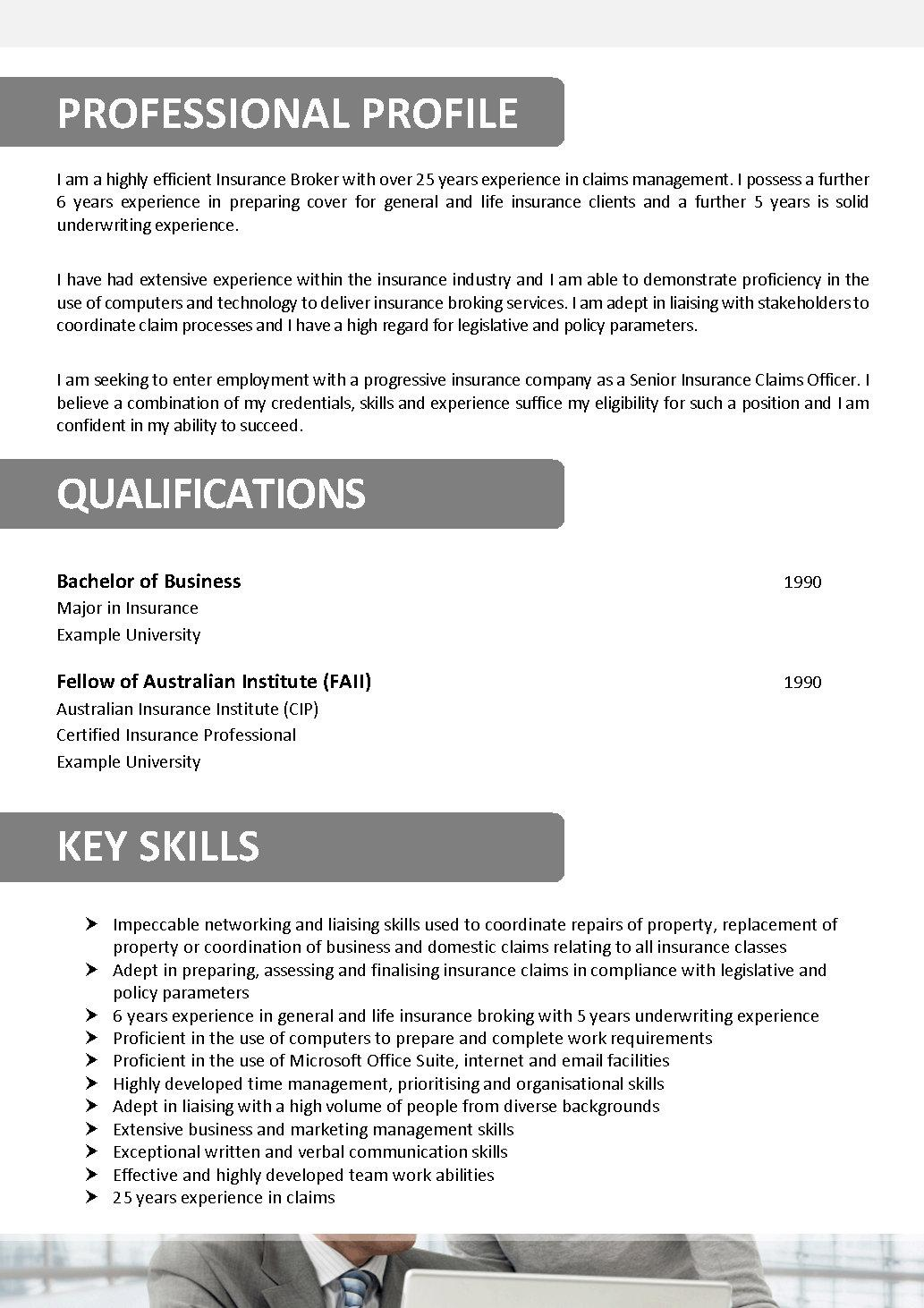 Insurance Broker Resume We Can Help With Professional Resume Writing Resume