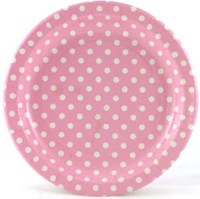 Polka Dot Paper Plates | Car Interior Design