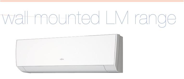 Fujitsu LM Range ASYG12LMCE 3.5kw Wall Mtd Indoor Unit