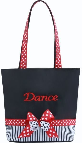 Sassi Designs Mindy Tote MIN 01 Black And Pink Dance