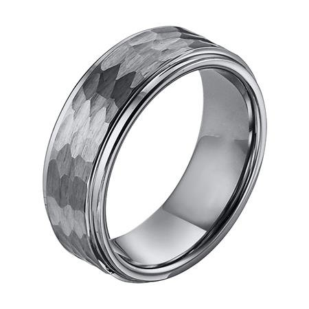 Triton 11 3328 Hammered Textured Tungsten Wedding Ring