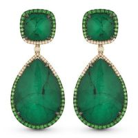Emerald Drop Earrings Jewelrypalace Exquisite 6ct Pear ...