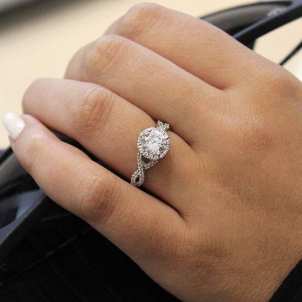 Gabriel ER7543 Criss Cross Halo Engagement Ring