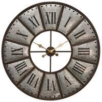 Galvanized Metal Wall Clock - Beckman's