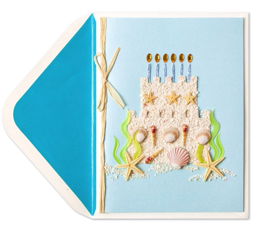 Birthday Card Sandcastle Cake By Papyrus Digs N Gifts