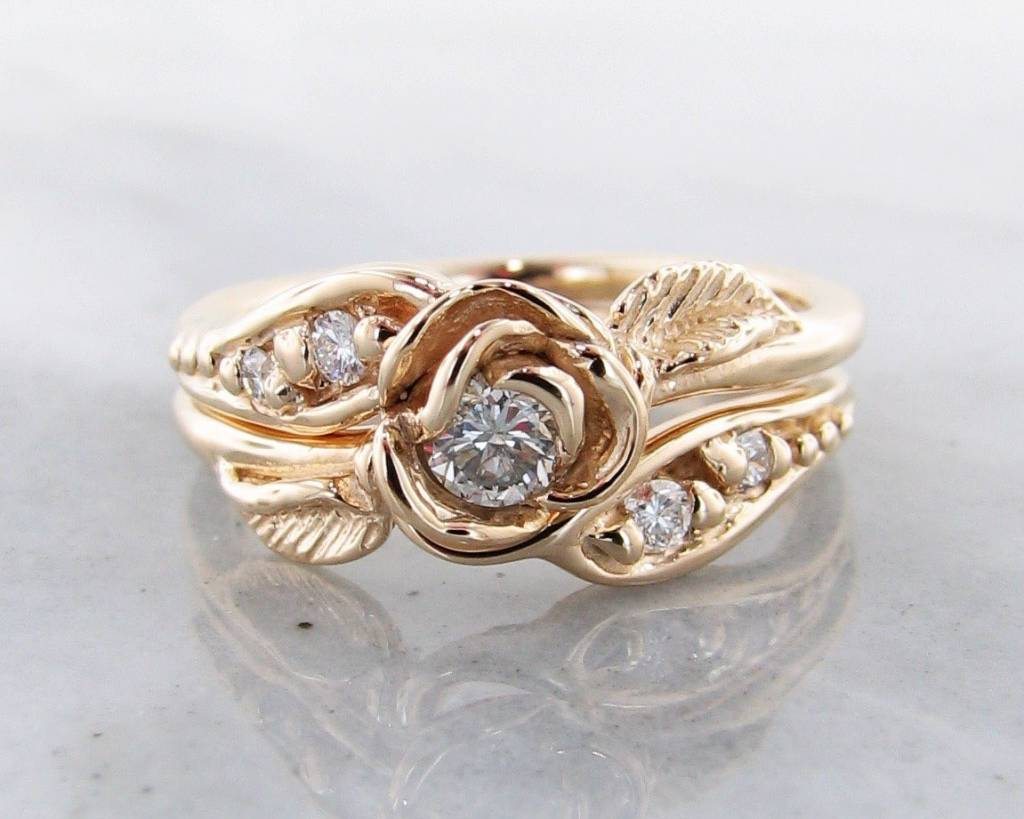 Yellow Gold Wedding Ring Sets