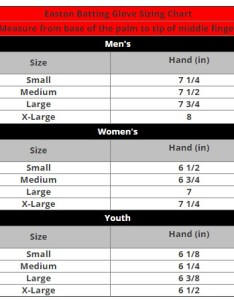 Easton batting gloves youth size chart image of also rh dkimage