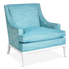 Turquoise Lounge Chair Resin Folding Chairs Jonathan Adler Chippendale Linen
