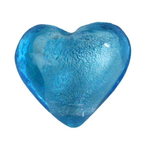 Homart Venetian Glass Heart Sky Blue Bakers Dozen