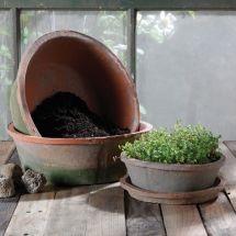 Homart Rustic Terra Cotta Bulb Pot - Sm Antique Red