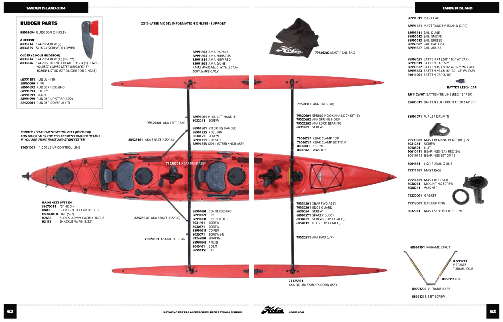 medium resolution of hobie tandem island parts