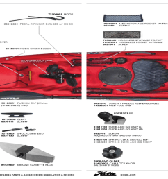 hobie mirage kayak parts all models except pro angler island series  [ 2048 x 740 Pixel ]